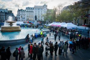 The Pig Idea Feast in Trafalgar Square